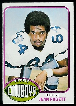 Jean Fugett 1976 Topps football card