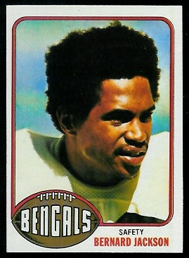 Bernard Jackson 1976 Topps football card