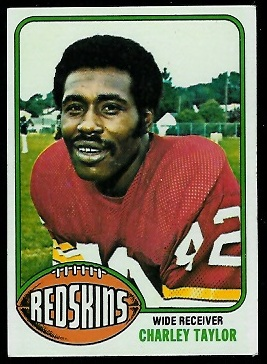 Charley Taylor 1976 Topps football card