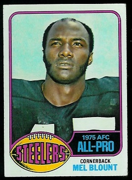 Mel Blount 1976 Topps football card