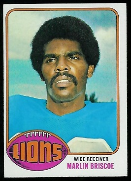 Marlin Briscoe 1976 Topps football card