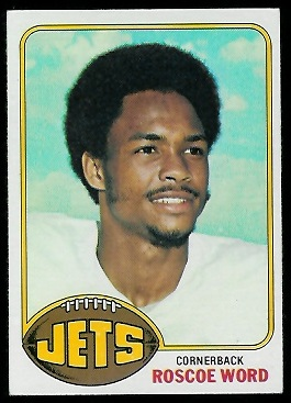 Roscoe Word 1976 Topps football card