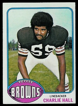 Charlie Hall 1976 Topps football card