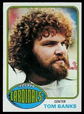 Tom Banks 1976 Topps football card
