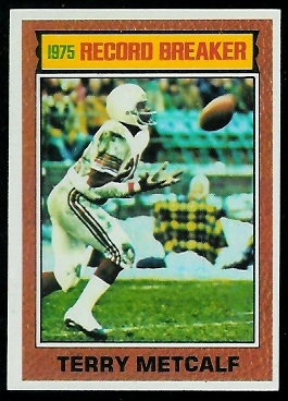 Terry Metcalf: Record Breaker 1976 Topps football card