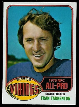 Fran Tarkenton 1976 Topps football card