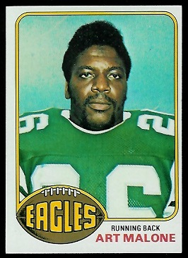 Art Malone 1976 Topps football card