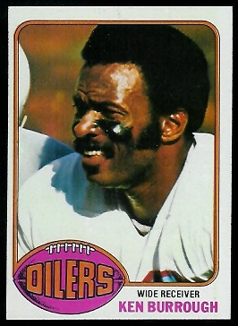 Ken Burrough 1976 Topps football card