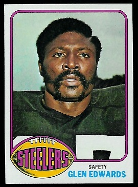 Glen Edwards 1976 Topps football card