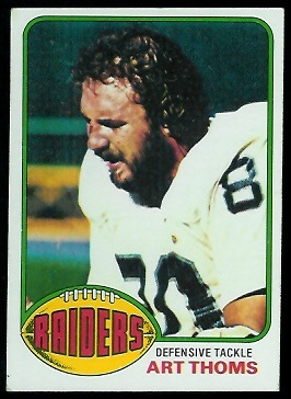 Art Thoms 1976 Topps football card