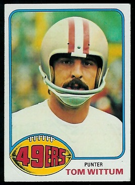 Tom Wittum 1976 Topps football card