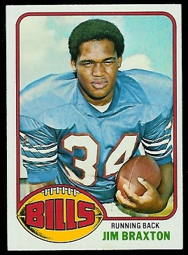 Jim Braxton 1976 Topps football card