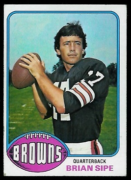 Brian Sipe 1976 Topps football card
