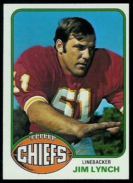 Jim Lynch 1976 Topps football card