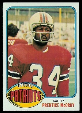 Prentice McCray 1976 Topps football card