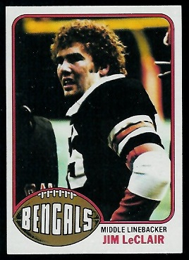 Jim LeClair 1976 Topps football card