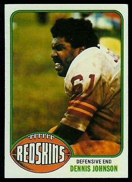 Dennis Johnson 1976 Topps football card
