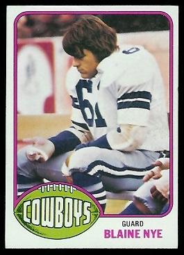 Blaine Nye 1976 Topps football card