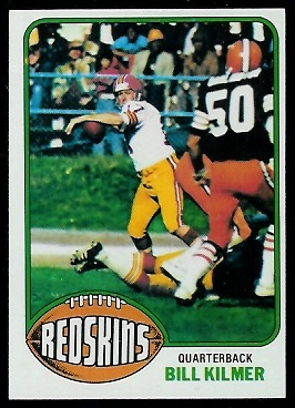 Bill Kilmer 1976 Topps football card