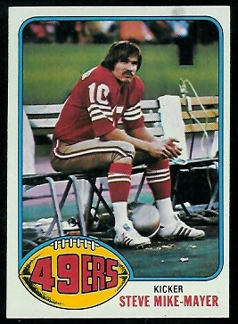 Steve Mike-Mayer 1976 Topps football card