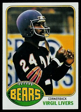 Virgil Livers 1976 Topps football card
