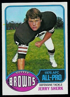 Jerry Sherk 1976 Topps football card