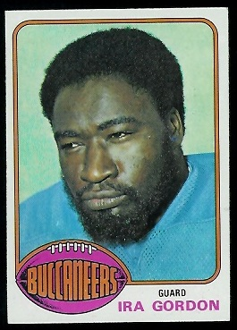 Ira Gordon 1976 Topps football card