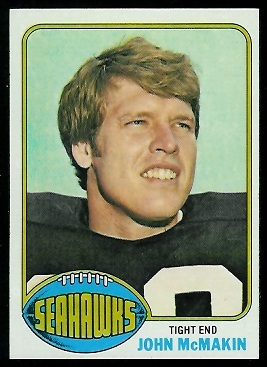 John McMakin 1976 Topps football card