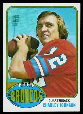 Charley Johnson 1976 Topps football card