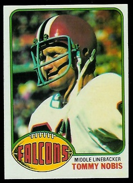 Tommy Nobis 1976 Topps football card