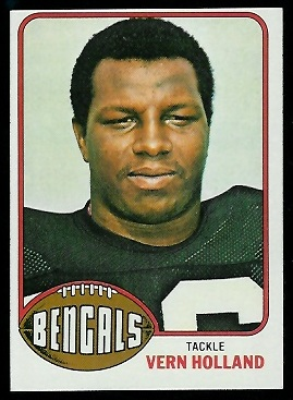 Vern Holland 1976 Topps football card