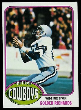 Golden Richards 1976 Topps football card