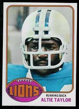 Altie Taylor 1976 Topps football card