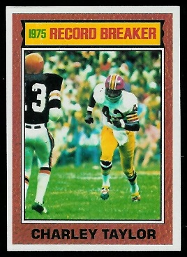 Charley Taylor: Record Breaker 1976 Topps football card