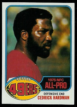 Cedrick Hardman 1976 Topps football card