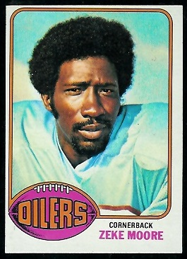 Zeke Moore 1976 Topps football card
