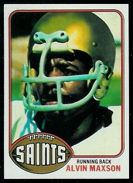 Alvin Maxson 1976 Topps football card