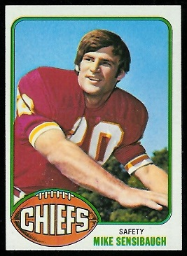 Mike Sensibaugh 1976 Topps football card
