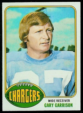 Gary Garrison 1976 Topps football card