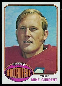 Mike Current 1976 Topps football card