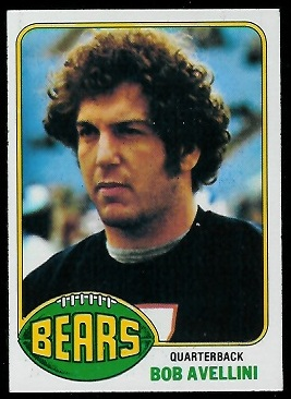 Bob Avellini 1976 Topps football card