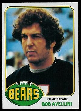 Bob Avellini rookie card - 1976 Topps #98 - Vintage ...