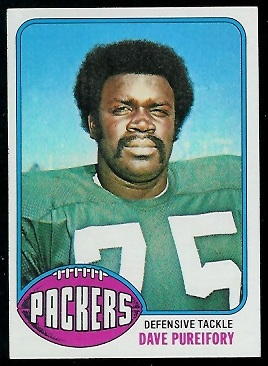 Dave Pureifory 1976 Topps football card