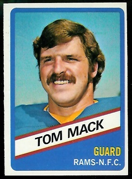 Tom Mack 1976 Wonder Bread football card
