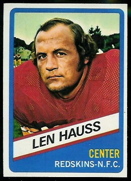 Len Hauss 1976 Wonder Bread football card