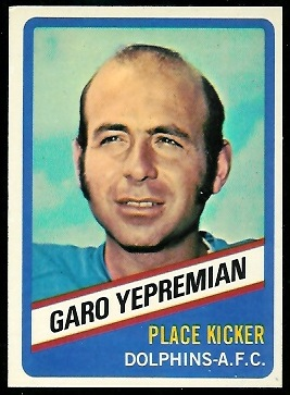 Garo Yepremian 1976 Wonder Bread football card