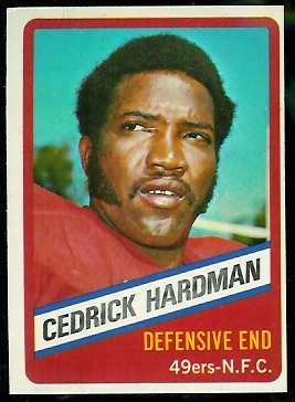 Cedrick Hardman 1976 Wonder Bread football card