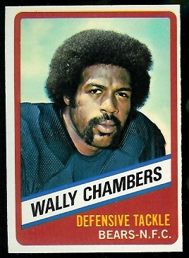 Wally Chambers 1976 Wonder Bread football card