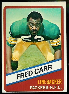 Fred Carr 1976 Wonder Bread football card