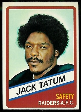 Jack Tatum 1976 Wonder Bread football card